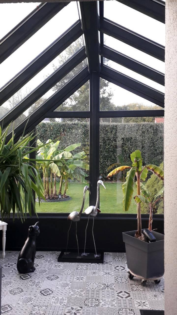 Installer une véranda comme sas d'entrée pour une maison à Malaunay proche Rouen 76 - SAPALU