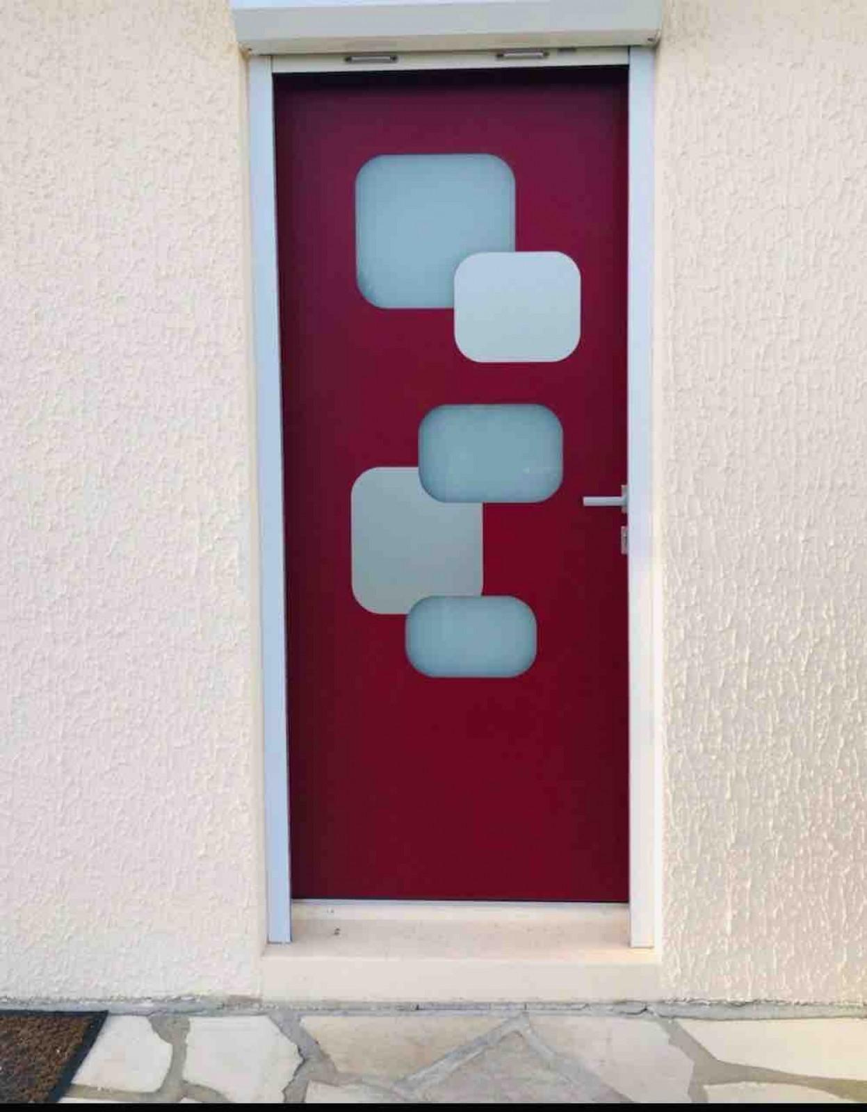 Porte D Entrée Rouge réalisation d'une porte d'entrée contemporaine et pmr en